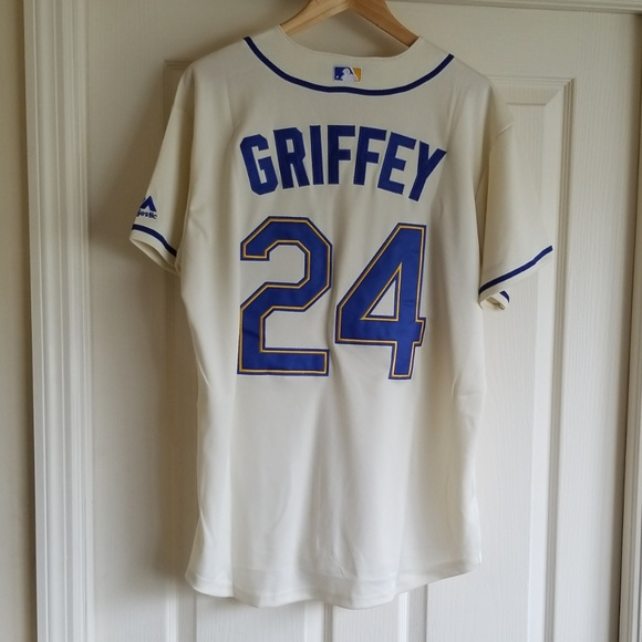 KEN GRIFFEY JR SEATTLE MARINERS THROWBACK JERSEY f0d63475648f